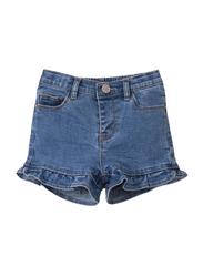 Poney Denim Shorts for Girls, 11-12 Years, Blue