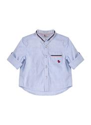 Poney Long Sleeve Shirt for Boys, 9-10 Years, Blue