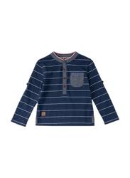 Poney Long Sleeve Tee for Boys, 4-5 Years, Blue