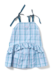 Poney Sleeveless Dress for Girls, 5-6 Years, Blue