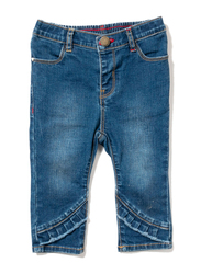 Poney Denim Jeans for Girls, 0-6 Months, Blue