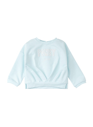 Poney Long Sleeve Sweatshirt for Girls, 18-24 Months, Turquoise