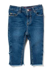 Poney Denim Jeans for Girls, 5-6 Years, Blue