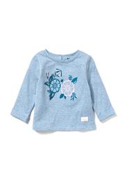 Poney Long Sleeve Sweatshirt for Girls, 6-12 Months, Blue