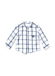 Poney Long Sleeve Shirt for Boys, 9-10 Years, White