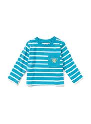 Poney Long Sleeve Tee for Boys, 2-3 Years, Blue