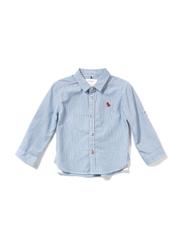 Poney Long Sleeve Shirt for Boys, 2-3 Years, Blue
