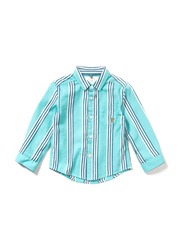 Poney Long Sleeve Shirt for Boys, 4-5 Years, Turquoise