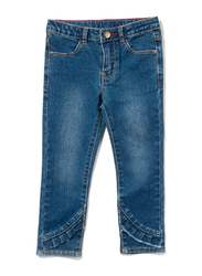 Poney Denim Jeans for Girls, 7-8 Years, Blue