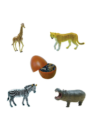 Magic Puzzle 4-Pieces Educational Assorted 3D Wild Animal Toy Egg Puzzle
