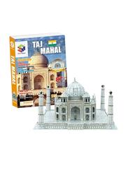 Magic Puzzle 3D Jigsaw Puzzle Architecture Taj Mahal Educational Children Toys for Unisex, Multicolor