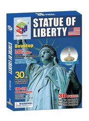Magic Puzzle 3D Jigsaw Puzzle Statue of Liberty Educational Children Toys for Unisex, Multicolor