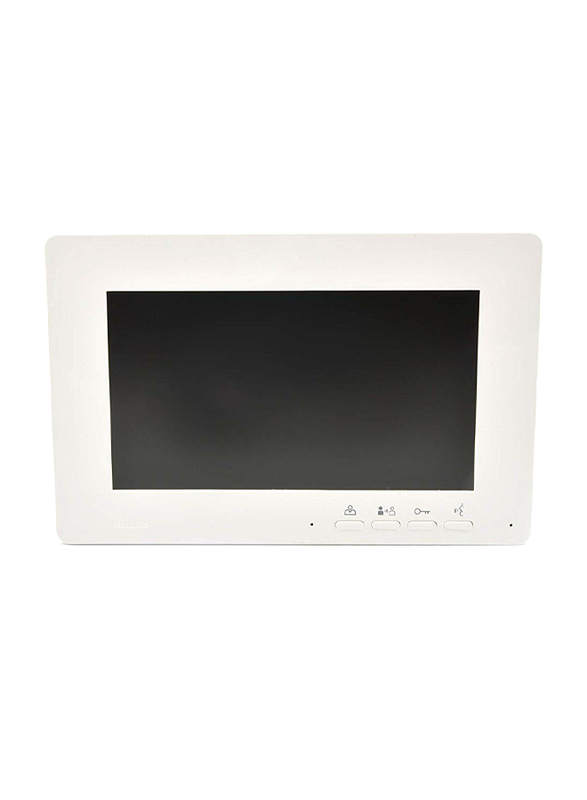 UK Plus Access Smart Video Doorbell HD 7 inch Screen for Home & Office Smart Intercom, White