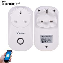 Sonoff S20 10A 2200W Wireless Smart UK Plug Socket, White
