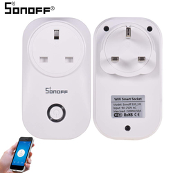 Sonoff S20 10A 2200W Wireless Smart UK Plug Socket, White
