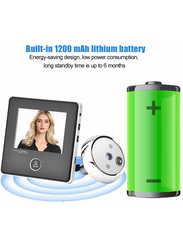 UK Plus DIY Home & Office Security Camera Doorbell, With 3 inches TFT LCD Screen, White