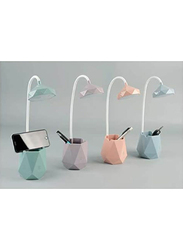 UK Plus Touch-Sensitive Flexible Table Lamp with Multi-Light Stationery & Mobile Holder, Green