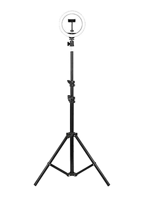 UK Plus 10 inch Selfie Ring Light with Tripod Stand for Smartphones, 60cm, Black