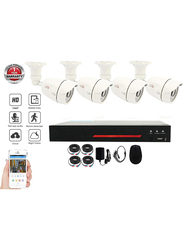UK Plus DIY 1080p Full HD 4CH Home & Office Security Surveillance CCTV AHD Kit, with 4 x Bullet Outdoor Camera, White