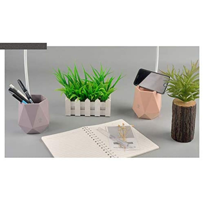 UK Plus Touch-Sensitive Flexible Table Lamp with Multi-Light Stationery & Mobile Holder, Pink