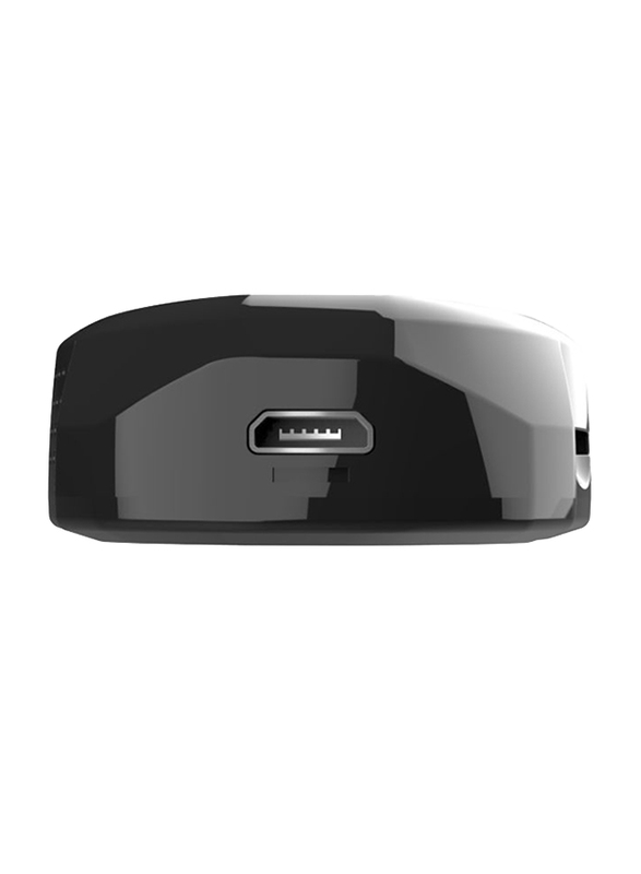 UK Plus 720p HD Mini Portable Wireless Nanny Camera, Black