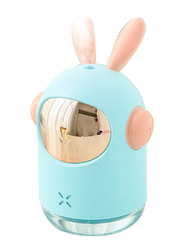 UK Plus Mini Bunny Shape Humidifier, 350ml, with USB Charge and Eye Friendly Multi-Light Night, Blue