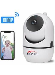 UK Plus 1080P WiFi/Wireless Full HD IP Home & Office Security CCTV Surveillance, White
