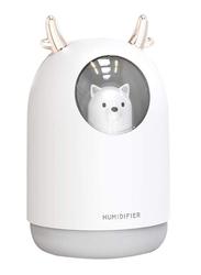 UK Plus USB Aroma Mini Portable Humidifier, 300ml, with 7 Color LED Night Light, White