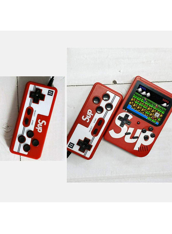 Sup Retro Portable Mini Handheld Game Console, With 400-in-1 Games, Red