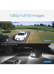 UK Plus DIY 1080P 8CH Home & Office Surveillance Security CCTV AHD Camera Kit, with 8 Dome for Indoor, 2MP, White