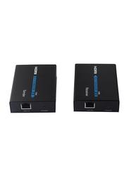 UK Plus General 120M HDMI Extender, HDMI Single Cable Extender 120M HDMI Extender IR Audio & Video Cables, Black
