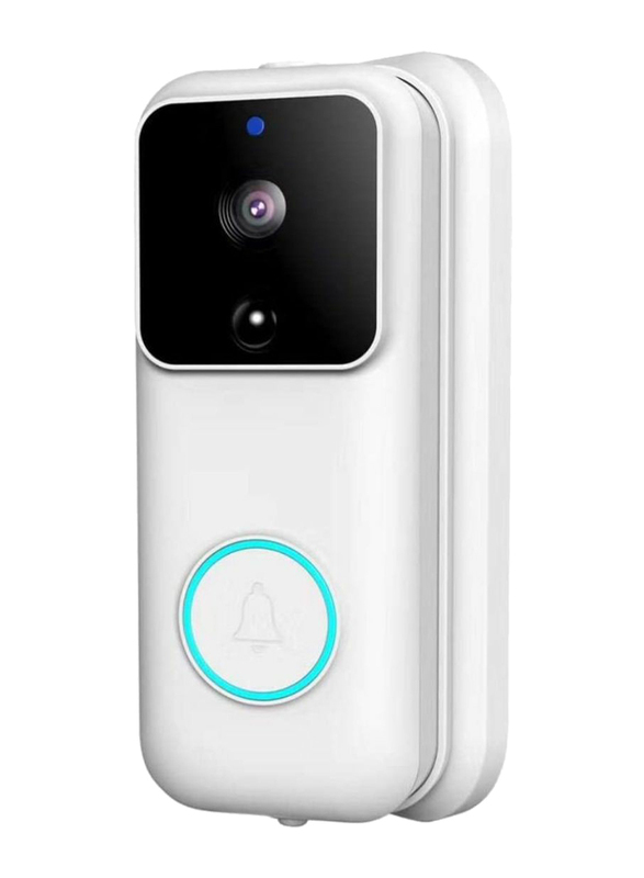 UK Plus Access 1080P Wireless Smart Video Doorbell Home & Office Smart Intercom Full HD WiFi Camera Security with Two-Way Talk & Video, White