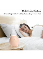 UK Plus Portable Humidifier, 200ml, Aroma Essential Oil Diffuser and USB Charging, Cute Deer-Shaped, Pink