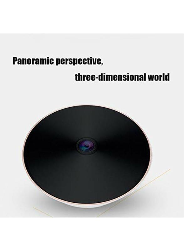 UK Plus 360 Degree 1080P Panoramic VR IP WiFi Wireless Security Camera, 2MP, Black