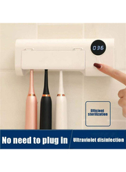 UK Plus UV Toothbrush, Sanitizer Wall Mounted Holder with Sterilizer & Disinfection Function, One Size