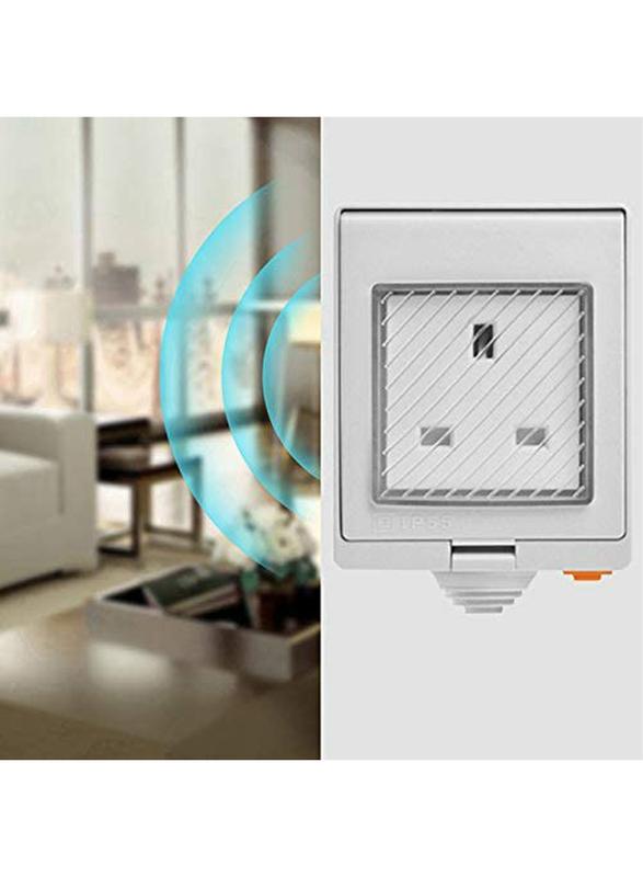 Sonoff S55 WiFi UK Standard Smart Waterproof Socket with Wireless APP Control, AC100-240V, White