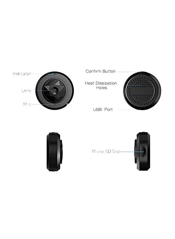 UK Plus C6 720p HD Mini Portable Wireless Nanny Camera, Black