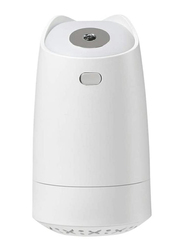 UK Plus Mini Humidifier, Aroma Diffuser, 280ml, with USB Charge and Eye Friendly Multi-Light Night, White