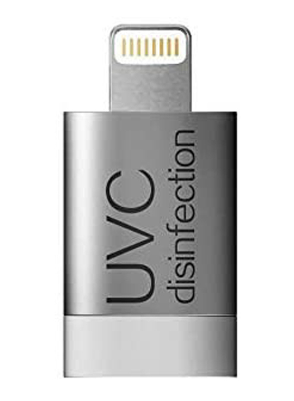 UK Plus Mini Instant Phone Sterilizer Travel with Type-C Interface for Apple iPhones, Silver