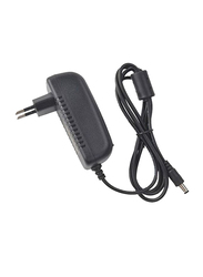 UK Plus Power Adapter Wall Charger, DC 12V 2A 2Pin for Home & Office Routers, Speakers, CCTV Cameras, Smartphones, USB Charging Devices, Black