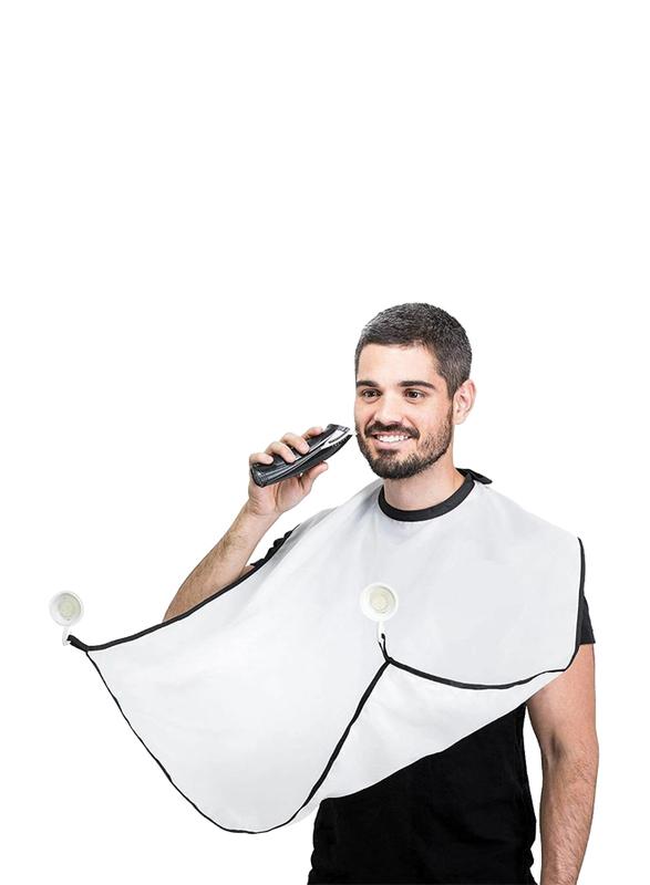 UK Plus Beard Shaving Apron, White