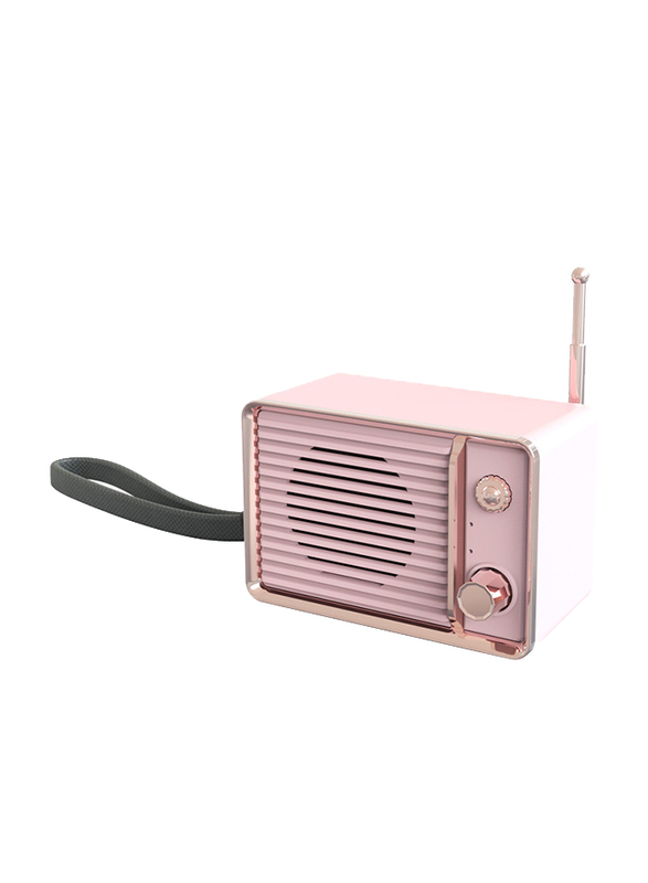 UK Plus Wireless Bluetooth Speaker with Built-In Battery, Pink