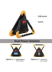 UK Plus Portable Multifunctional 30W LED Emergency Lamp, Black/Yellow