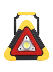 UK Plus Portable Multifunction Triangle Flood LED Emergency Light, Black/Yellow