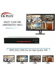 UK Plus DIY 1080p Full HD 4CH Home & Office Security Surveillance CCTV AHD Kit, with 1TB HDD, 2 MP, White