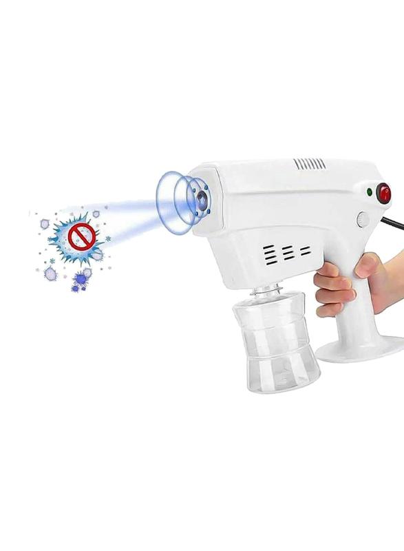UK Plus Portable Anion Blu-Ray Nanometer Spray Handheld Steam Gun, White