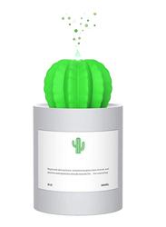 UK Plus USB Aroma Mini Size Cactus Humidifier, 280ml, with Night Light, Grey/Green