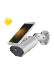 UK Plus WiFi Wireless Outdoor Security Two-Way Home Security Camera, with IP66 & Solar Powered, White/Black