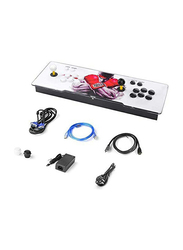 UK Plus KidKit Box 9 Multiplayer Joystick and Buttons Arcade Console, With 1500 Retro Classic Video Games Advanced CPU, Compatible with HDMI, White