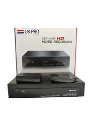 UK Plus 4K 8CH POE NVR for POE Network Video Recorder, Black